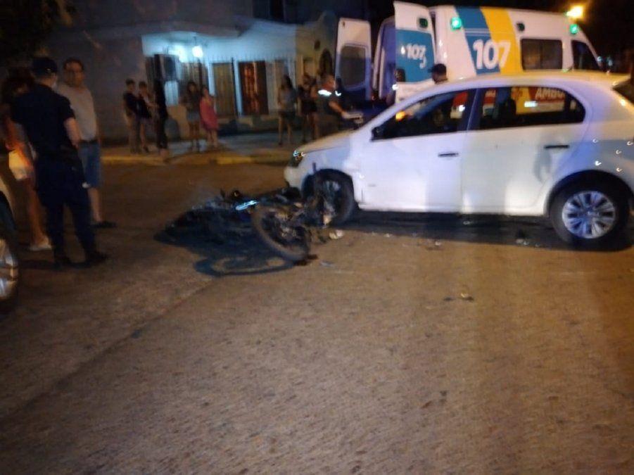 En una hora, hubo dos accidentes de tránsito protagonizados por motociclistas