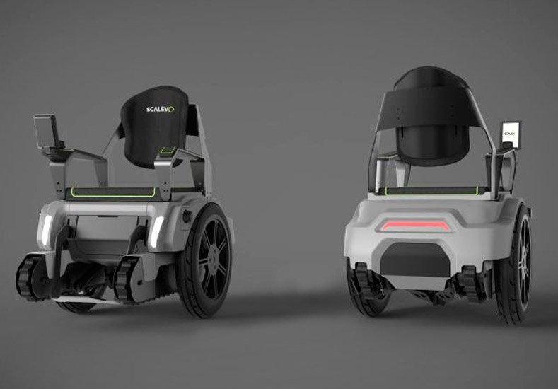 Una poderosa silla de ruedas que puede subir escaleras como un tanque