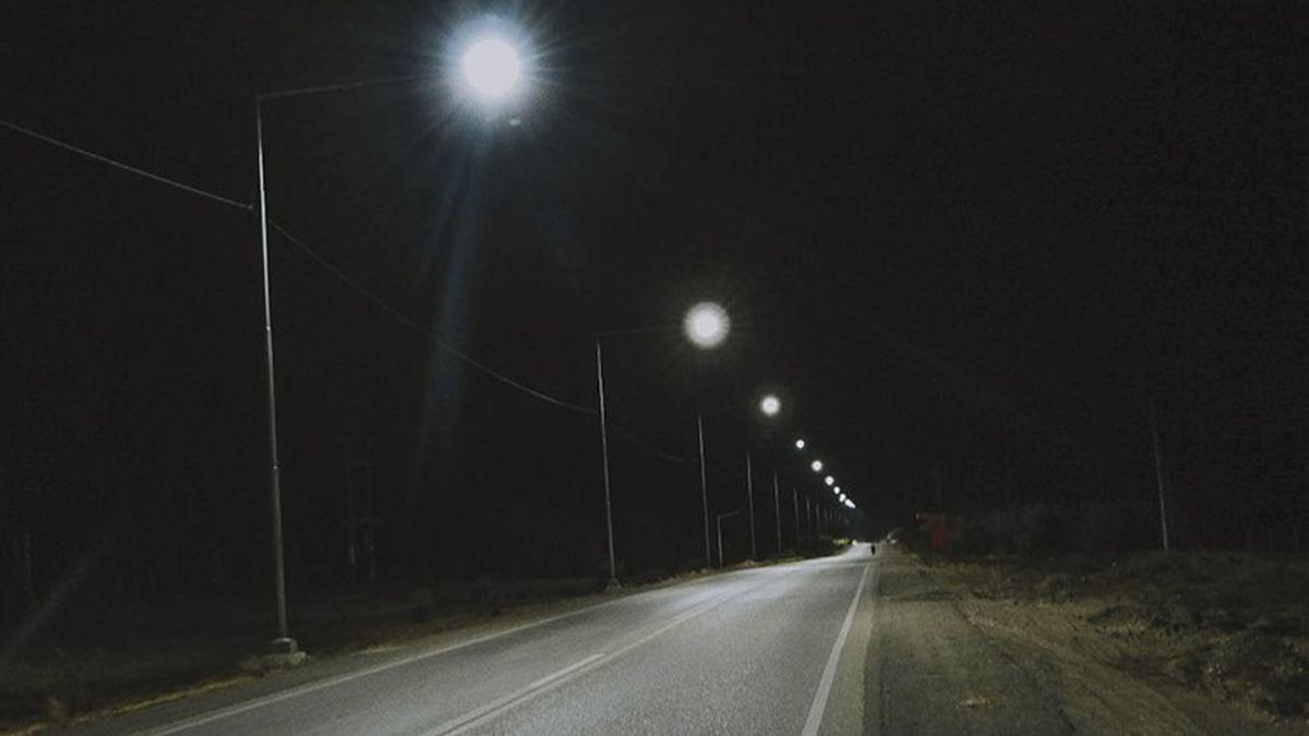 Una importante ruta provincial con nueva iluminación