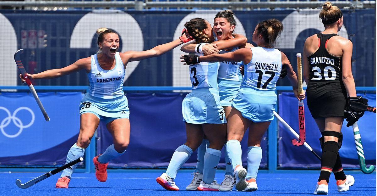 Las Leonas eliminaron a Alemania en cuartos de final. Foto: Telam.
