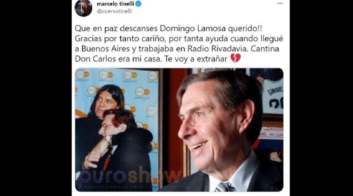 El dolor de Marcelo Tinelli tras la muerte de un querido amigo