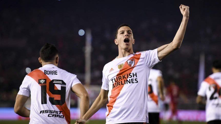 Sonríe River: Nacho Fernández y Rafael Santos Borré jugarán ante Banfield.