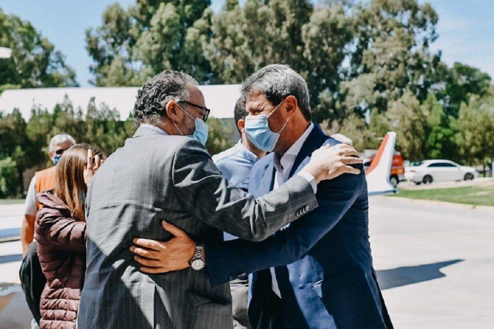 Sergio Uñac recibe a Matías Kulfas en su visita oficial.