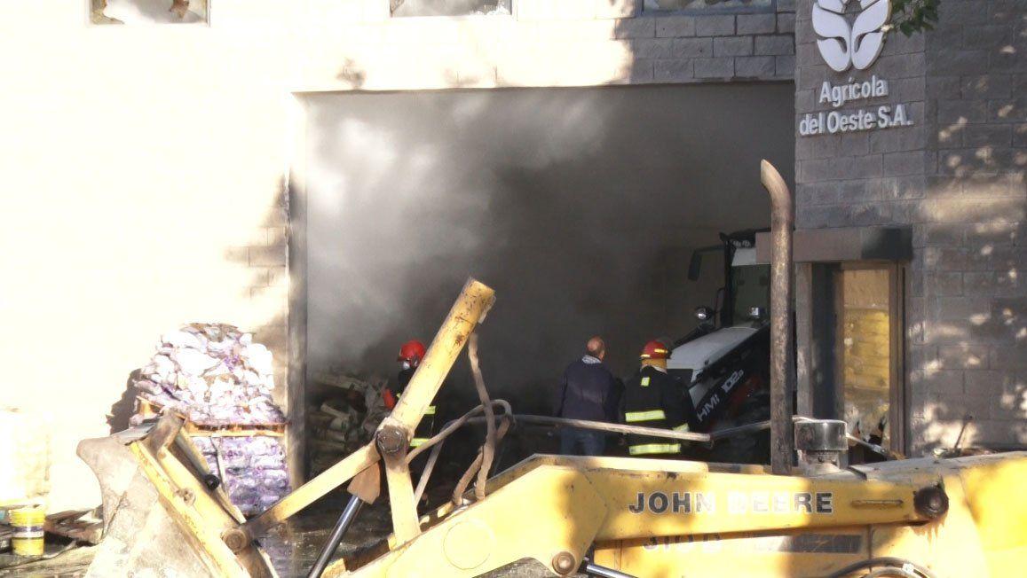 Así quedó el depósito después del incendio en Trinidad