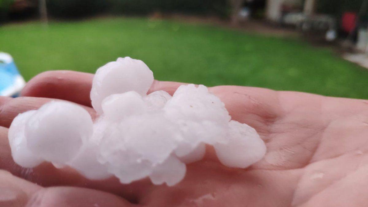 La lluvia y el granizo afectaron a varios departamentos de San Juan