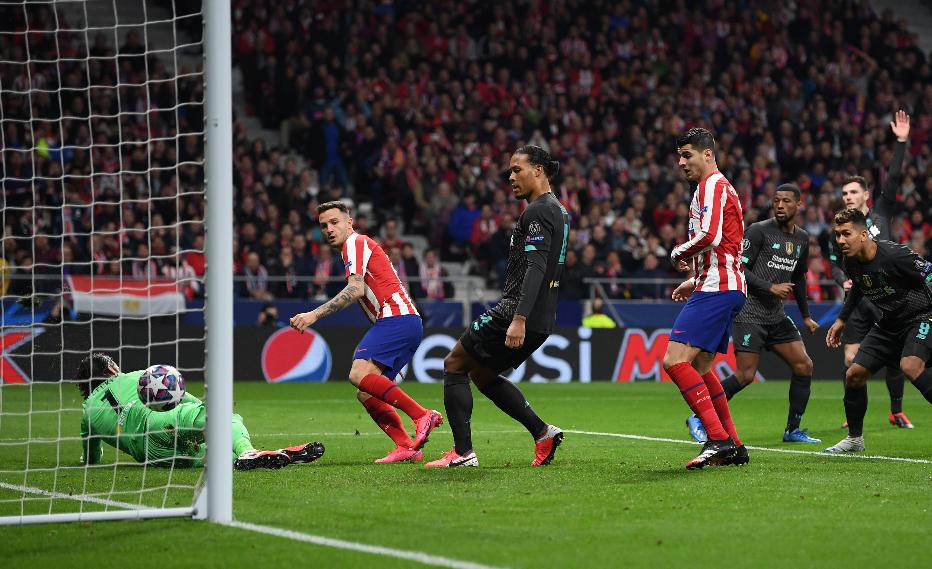 Campeón en problemas: el Atlético derrotó a Liverpool en la ida de los octavos