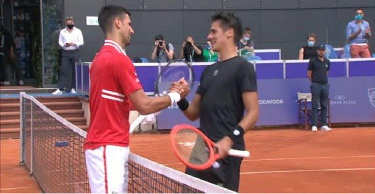 Federico Coria no tuvo chances ante el poder de Djokovic
