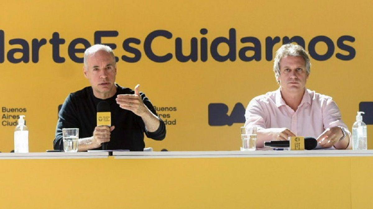 Horacio Rodríguez Larreta junto a Felipe Miguel.