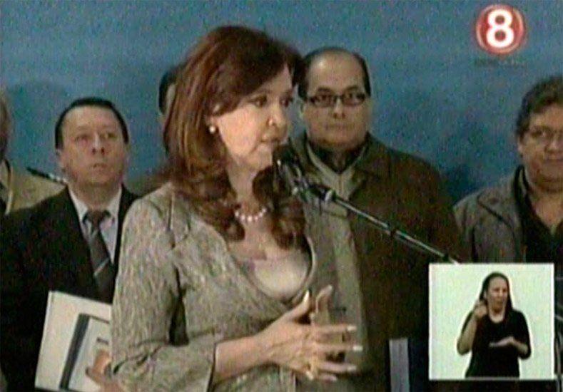 Cristina Kirchner habla por cadena nacional en el predio de la ex ESMA