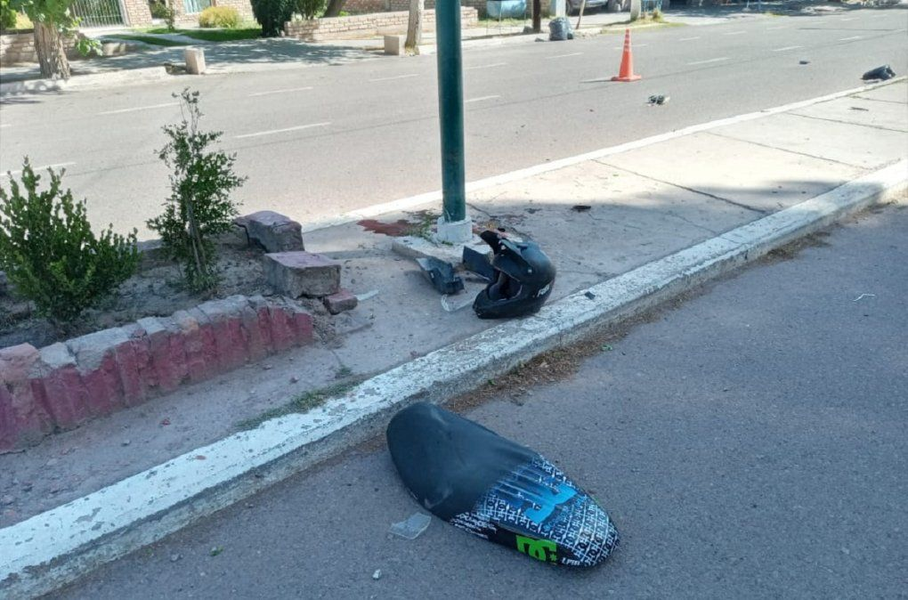 Calingasta: identificaron al motociclista que murió en elaccidente
