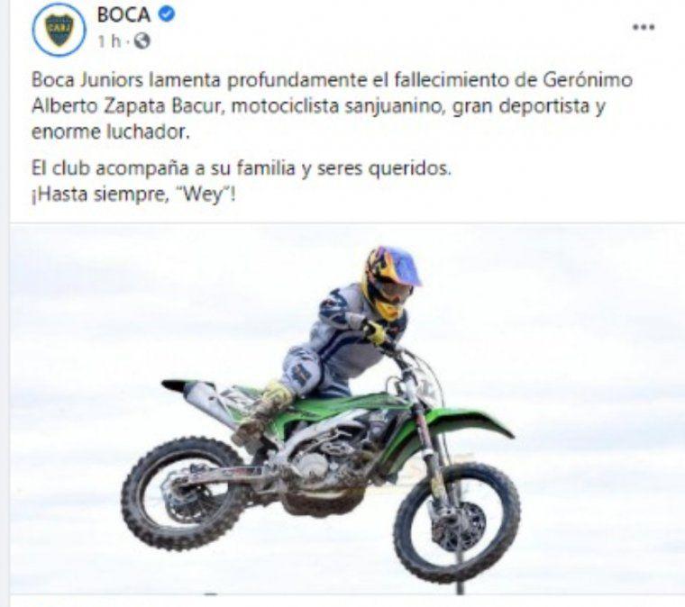 Wey Zapata- dolor en redes sociales.