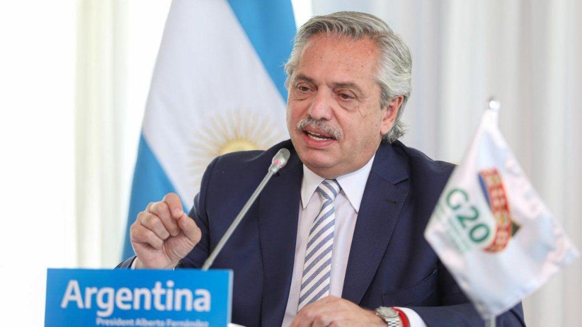 Alberto Fernández, en el G20: Nadie se salva solo en un planeta que se incendia