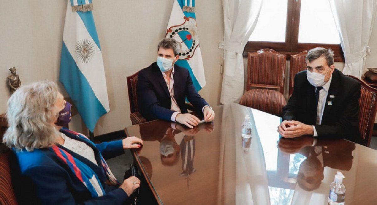 Uñac recibió a la gobernadora del Rotary Club