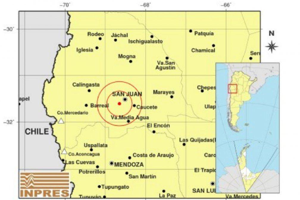 Un fuerte sismo en San Juan sacudió la siesta de este martes