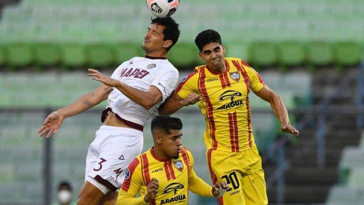 Lanús derrotó 1 a 0 a Aragua en condición de visitante.