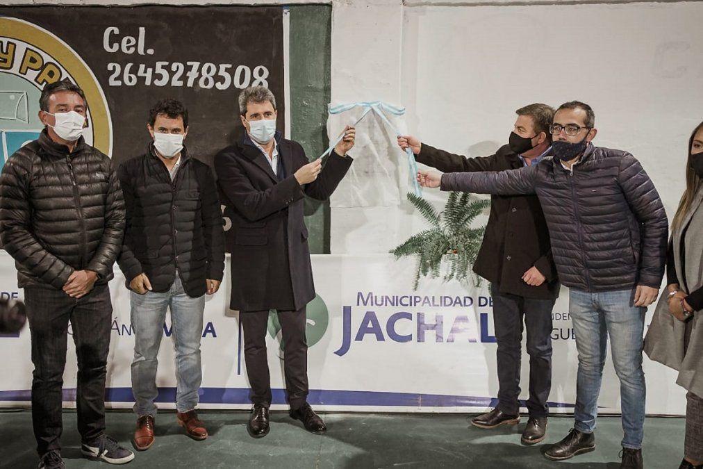 Uñac inauguró obras en Jáchal.