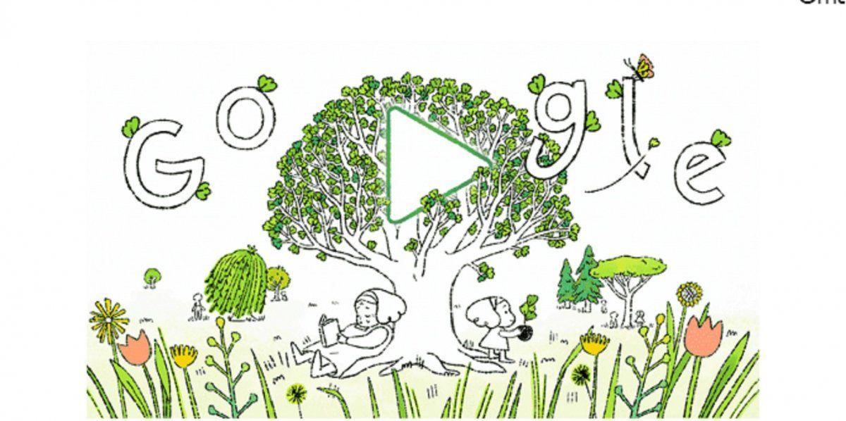 Cuidado del planeta: el doodle por el Día de la Tierra