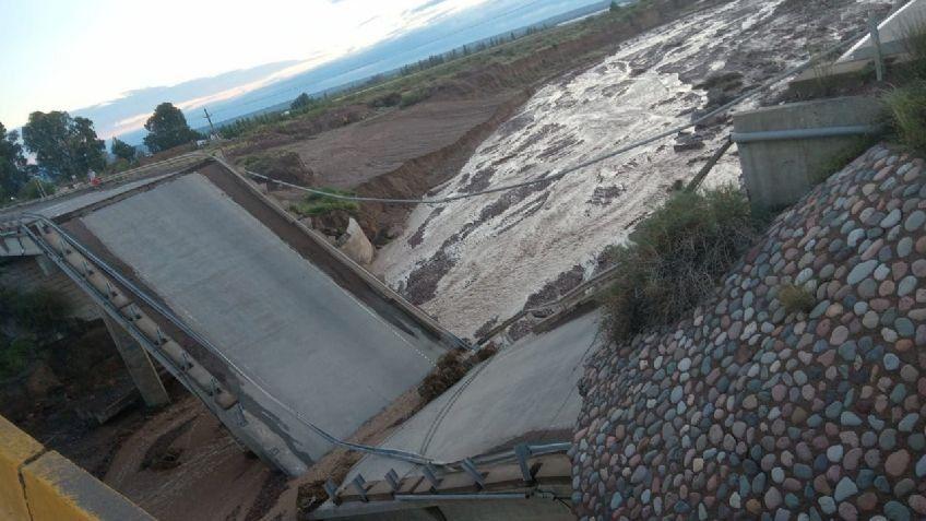 Se desplomó un puente en la ruta 40 en Mendoza
