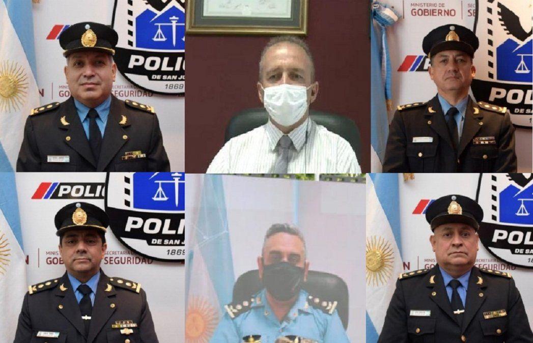 Nuevo Comisarios Generales (en orden): Gustavo Manrique;Carlos Avellá; Sergio Fonseca; Carlos Torres Quiroga; Enrique Romero y ErikZeballos.
