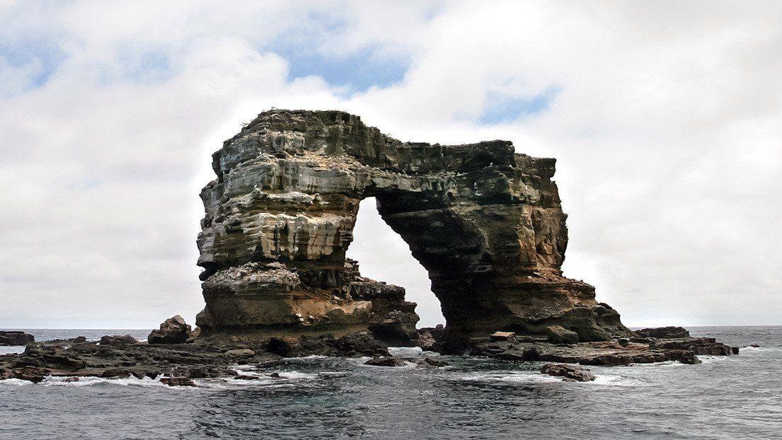 Colapsó el emblemático Arco de Darwin en las islas Galápagos