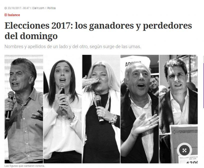 Así reflejaron los medios nacionales el triunfo de Uñac en las urnas