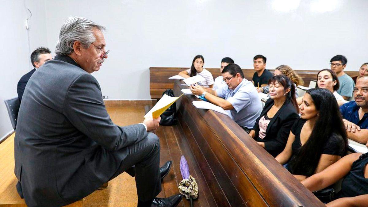 Alberto Fernández saludó a los docentes en el Día del Maestro.