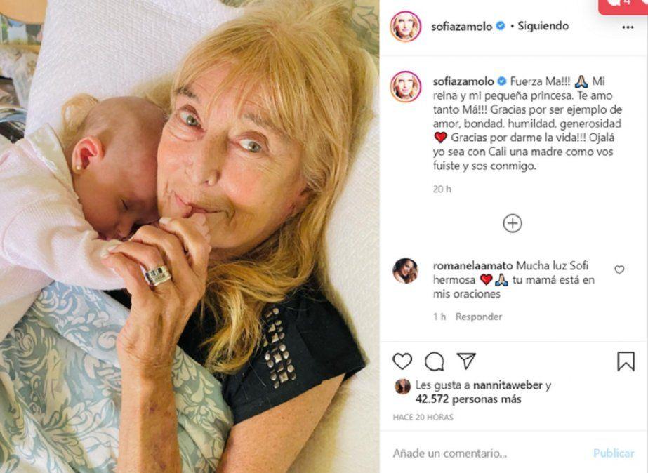Sofía Zámolo contó el difícil momento que atraviesa su madre