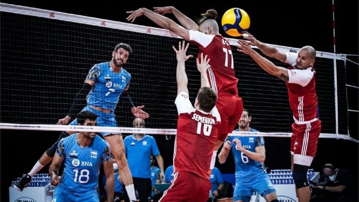 Volleyball Nations League: Argentina no pudo con Polonia