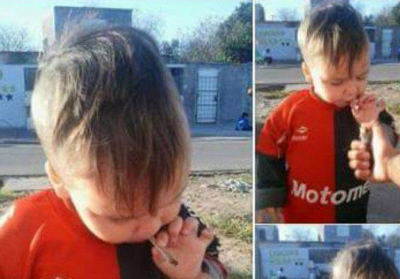Indignación porque una mujer subió la foto de su bebé fumando marihuana