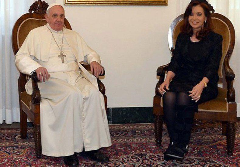 Cristina Fernández viaja a Roma a reunirse con el Papa Francisco