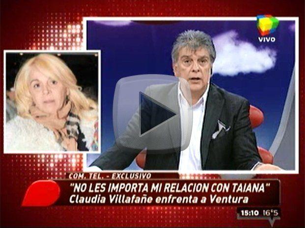 Claudia Villafañe, furiosa, llamó para frenar a Ventura