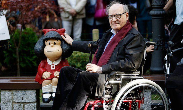 A los 88 años murió Quino, el padre de Mafalda