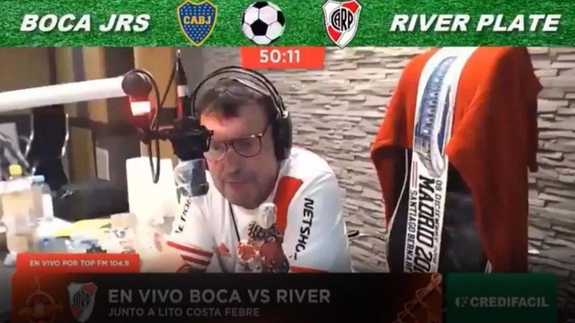 Un relator llamó mono a un jugador de Boca en pleno relato.