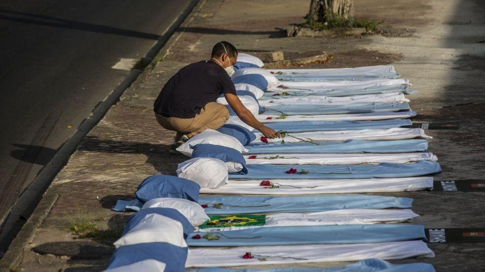 Casos de Covid-19 en Brasil.