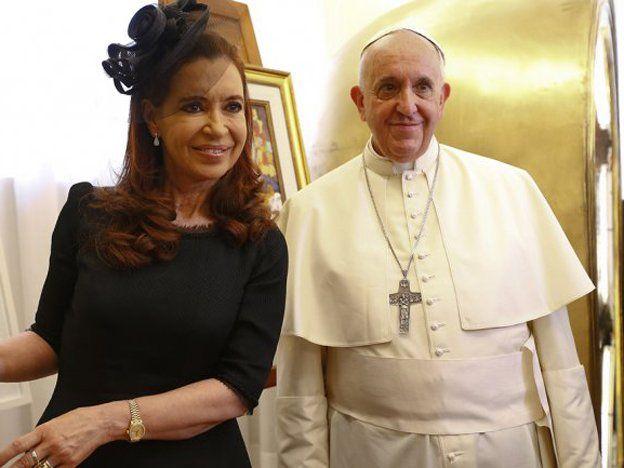 La presidenta Cristina Kirchner mantuvo una reunión con el papa Francisco durante dos horas