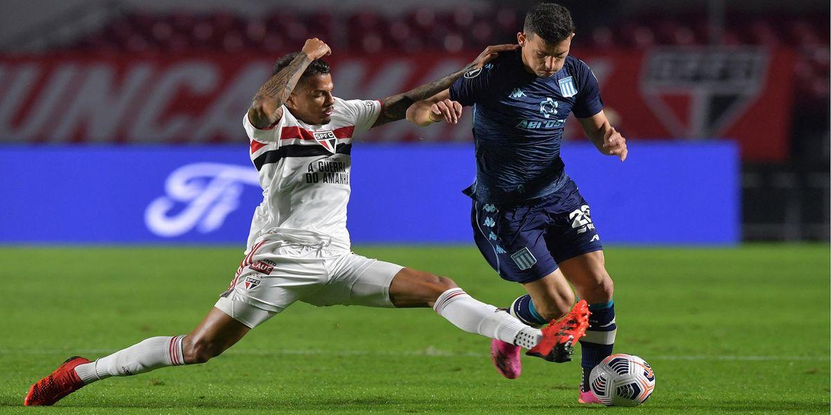 Racing consiguió un buen punto ante San Pablo en Brasil
