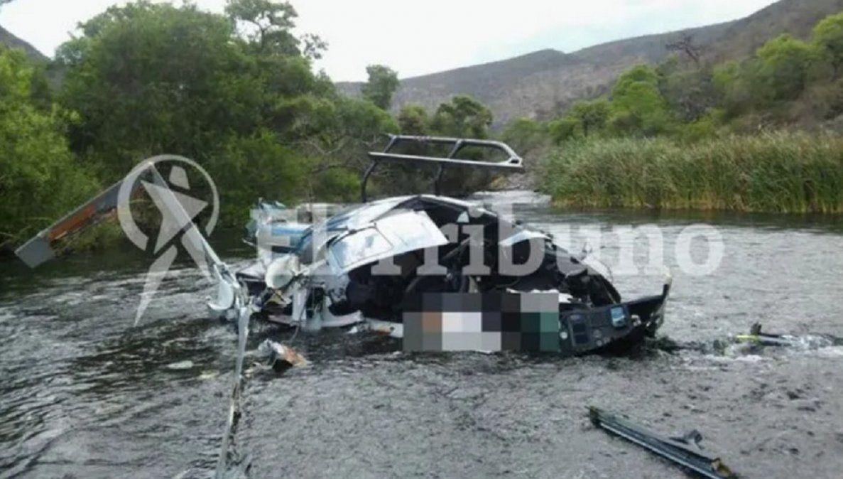 Este es el helicóptero en el que viajaba Jorge Brito (El Tribuno de Salta)