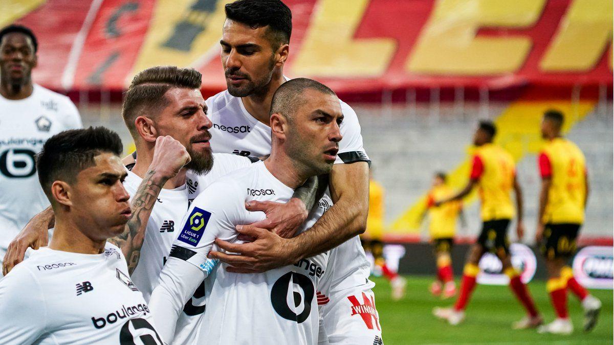 Lille goleó y se alejó de PSG en la lucha por el título