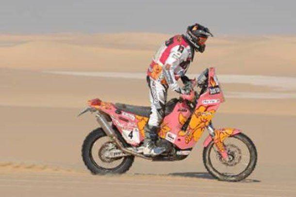 El chileno Francisco López se quedó con la victoria en motos en la emocionante quinta etapa del Dakar