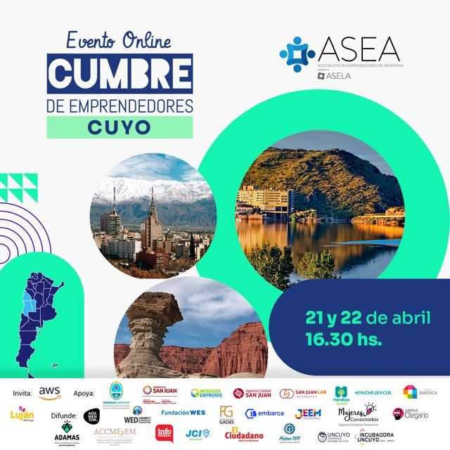 El ecosistema emprendedor de Cuyo se reunirá en un encuentro virtual de ASEA