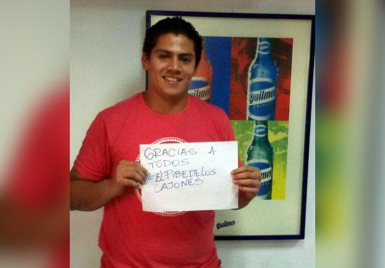 #ElPibeDeLosCajones de cerveza es rosarino y se ganó un viaje a la Copa América