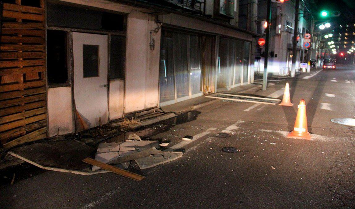 Gran cantidad de heridos y casas sin electricidad por el terremoto en Japón