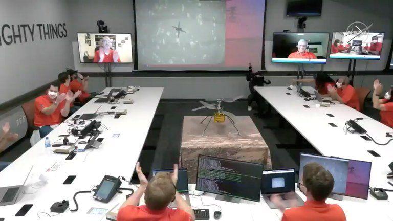 Histórico vuelo a Marte del helicóptero de la NASA