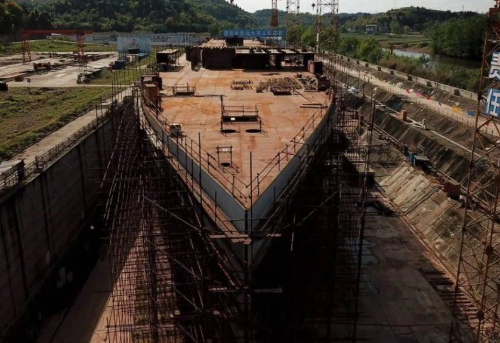 China construye la réplica del Titanic en tamaño real