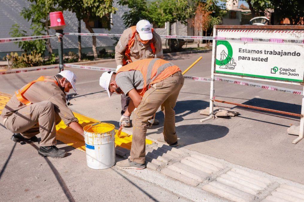 Capital continúa con las obras para mejorar la seguridad vial