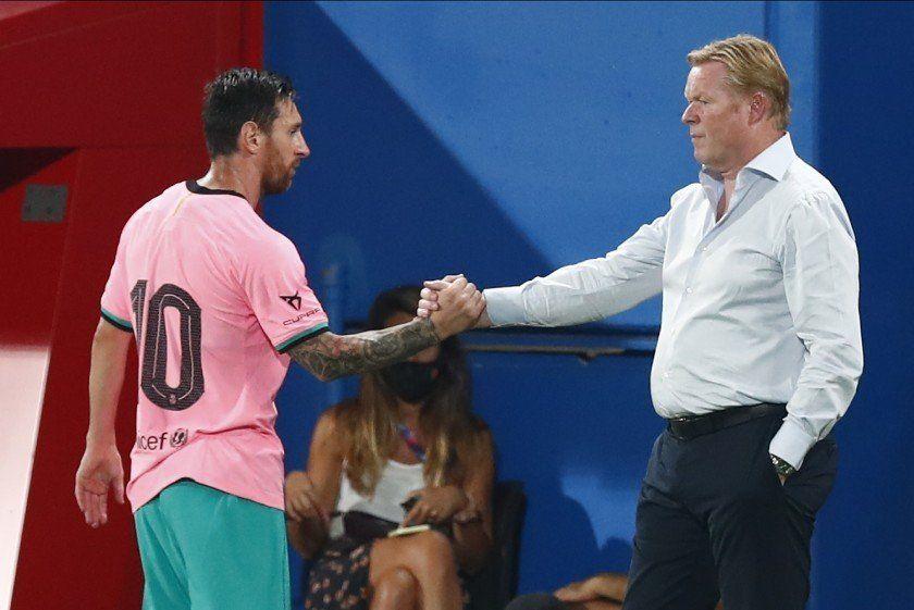 Koeman salió a bancar a Messi luego de las críticas del ex entrenador