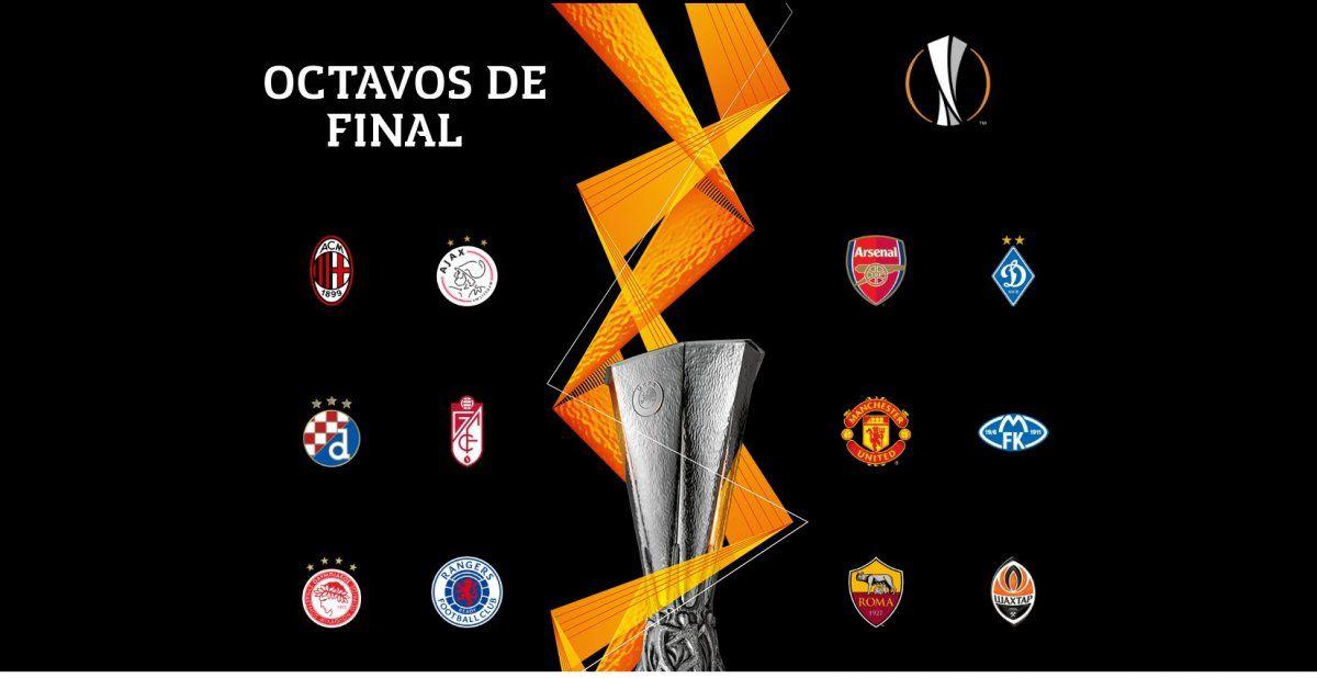 Así se jugarán los octavos de final de la Europa League.