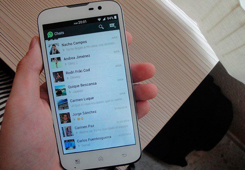 Mensajes instantáneos de Whatsapp, lo más usado en el celular