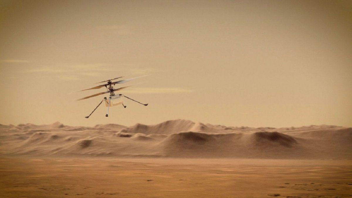 El helicóptero Ingenuity se prepara para sobrevolar Marte