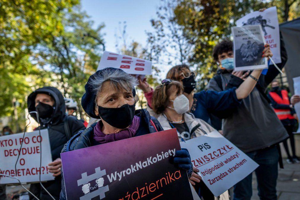 Manifestación en Polonia por el aborto.